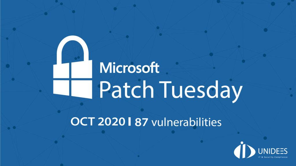 Le Patch Tuesday de Microsoft d'octobre 2020 corrige 87 vulnérabilités