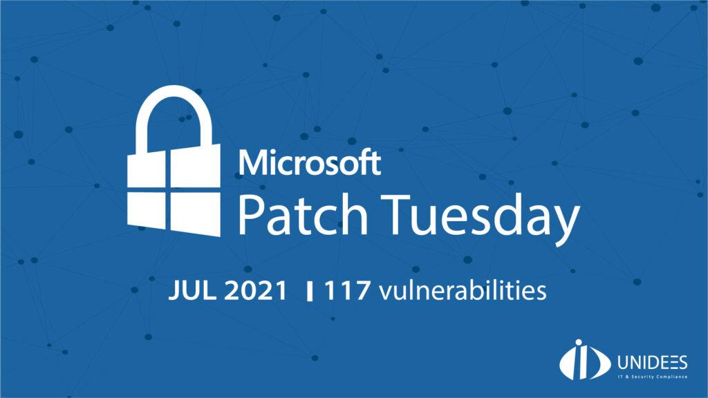 Le patch Tuesday de Juillet 2021 de Microsoft a corrigé 117 vulnérabilités